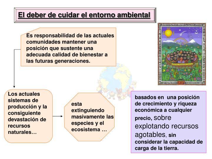 El deber de cuidar el entorno ambiental