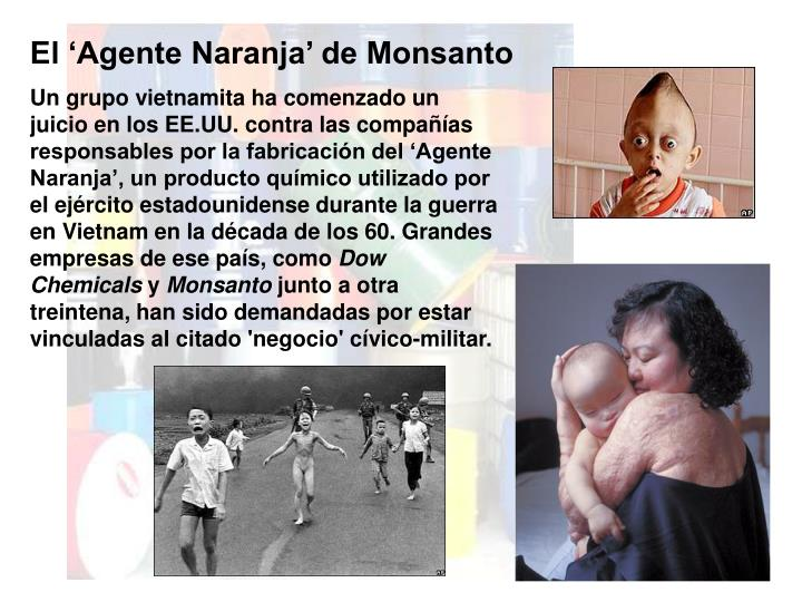 El 'Agente Naranja' de Monsanto