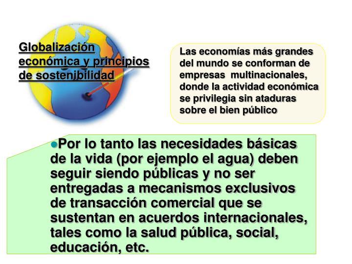 Globalización económica y principios de sostenibilidad