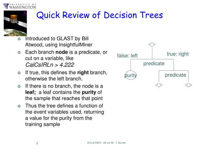 Quick review of decision trees