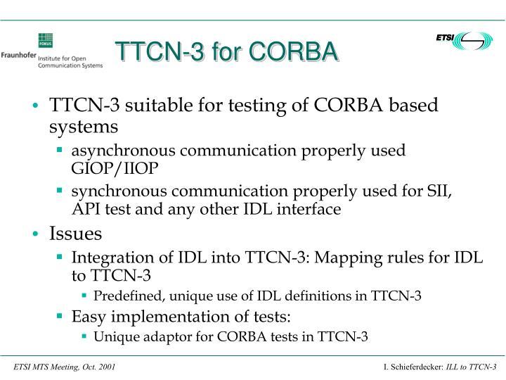 TTCN-3 for CORBA