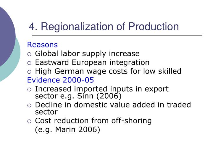 4. Regionalization of Production