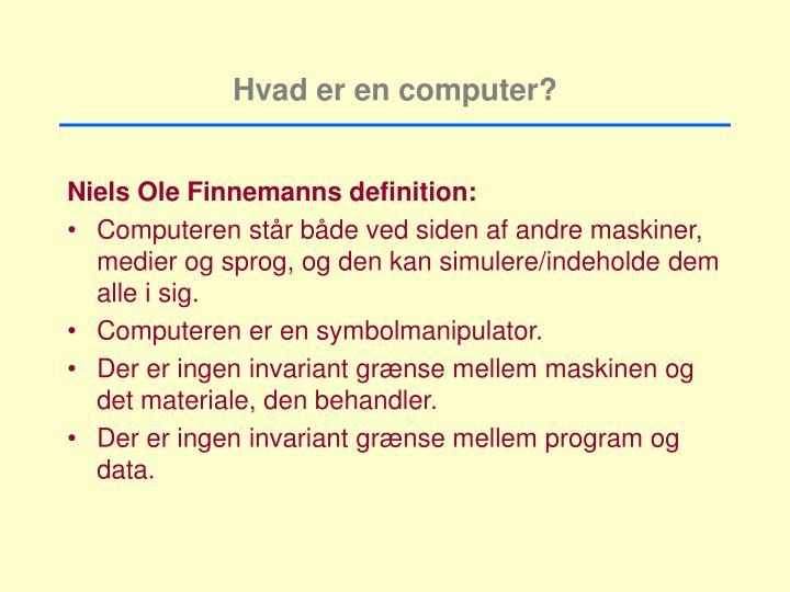 Hvad er en computer?