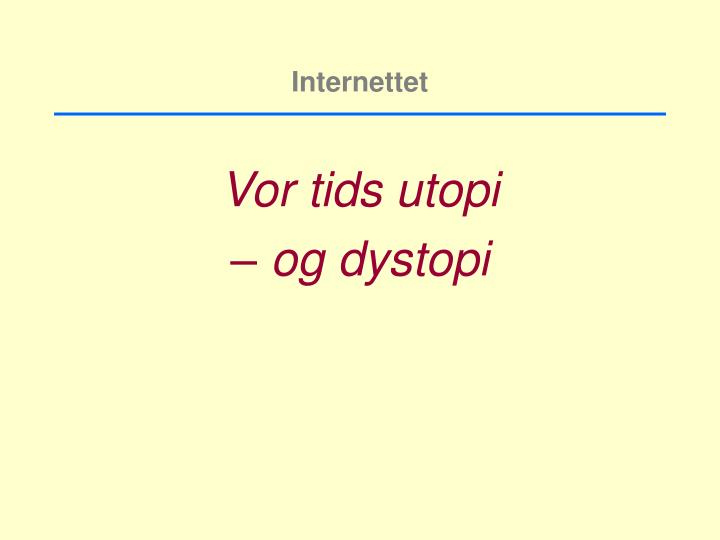 Internettet