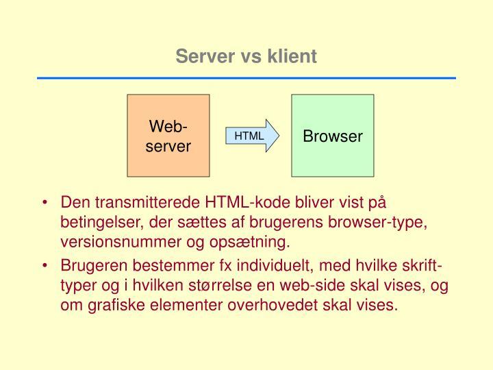 Server vs klient