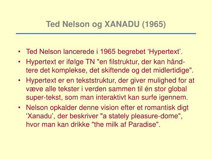 Ted Nelson og XANADU (1965)