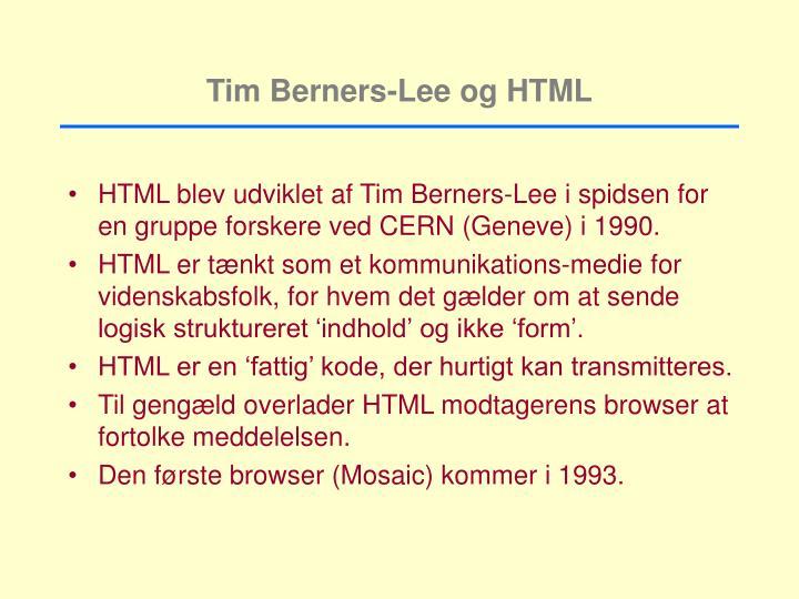 Tim Berners-Lee og HTML