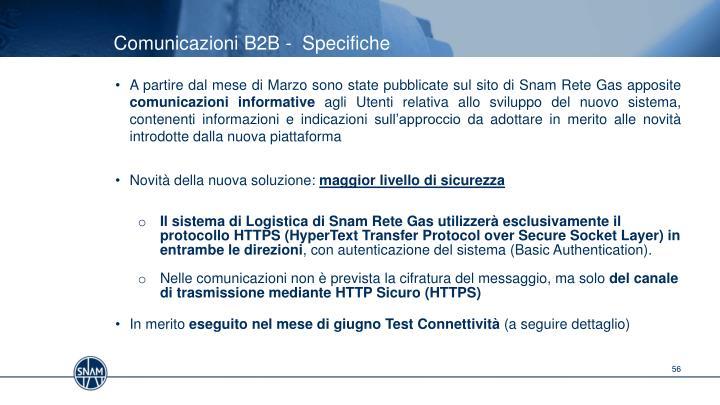 Comunicazioni B2B -  Specifiche