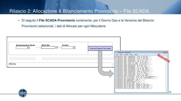 Rilascio 2: Allocazione & Bilanciamento Provvisorio – File SCADA