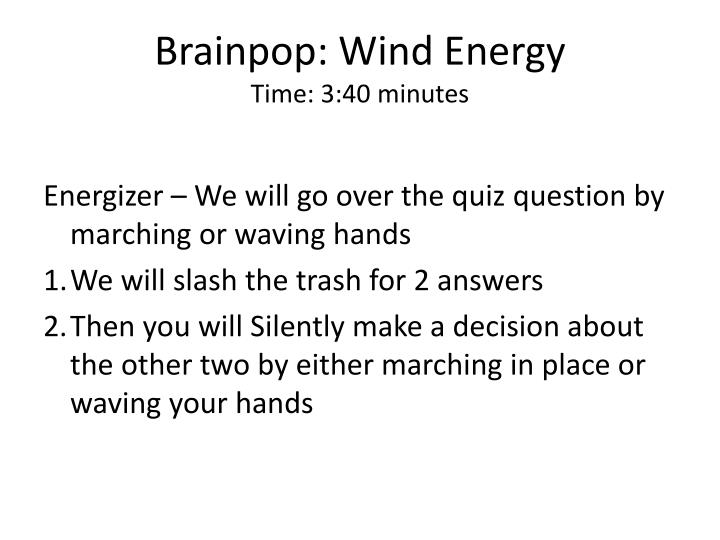 Brainpop: Wind Energy