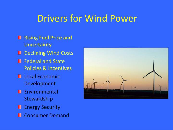 Drivers for Wind Power