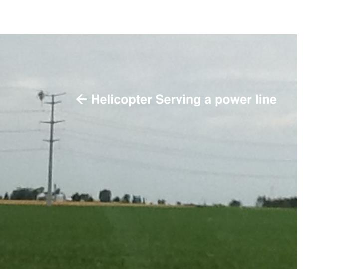  Helicopter Serving a power line