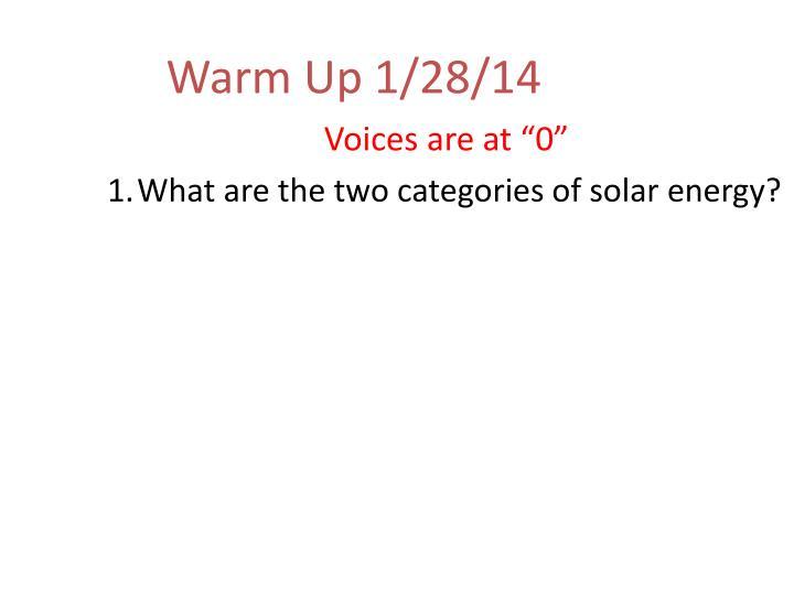 Warm Up 1/28/14