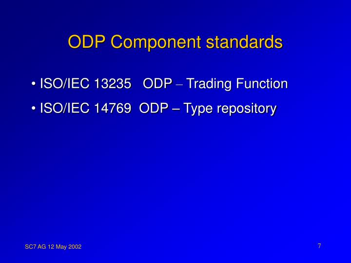 ODP Component standards
