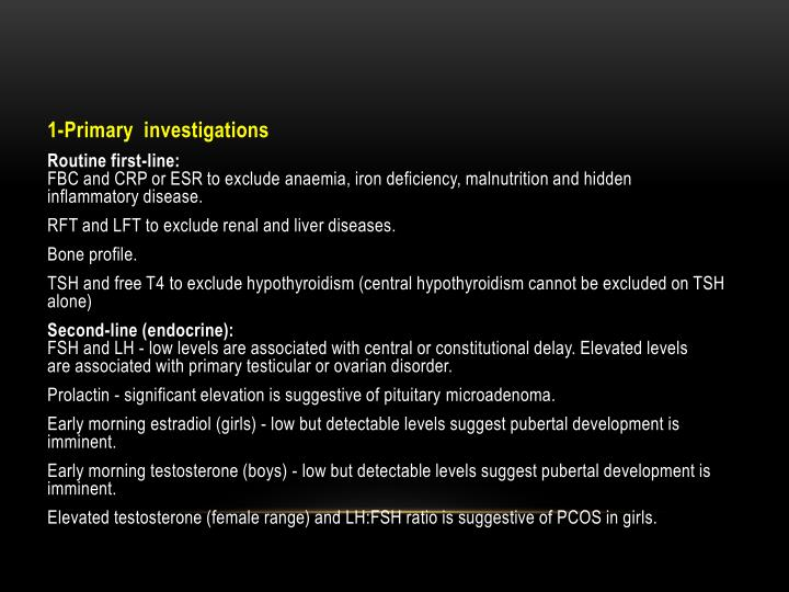 1-Primary  investigations