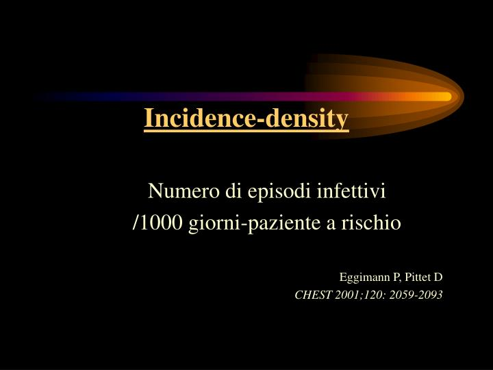 Incidence-density