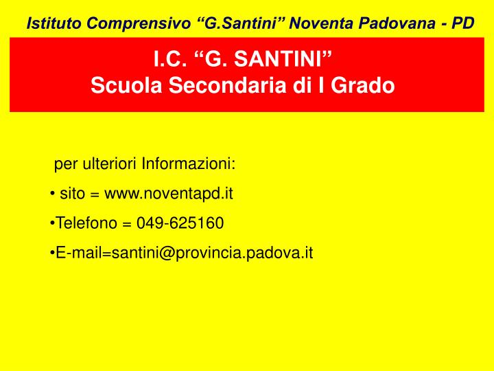 """I.C. """"G. SANTINI"""""""