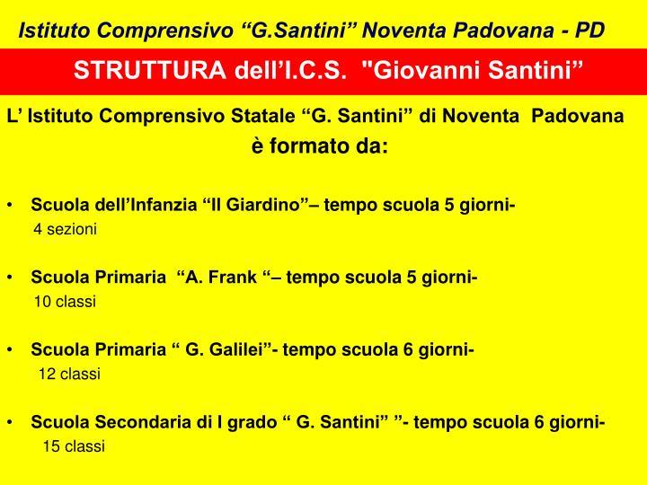 """STRUTTURA dell'I.C.S.  """"Giovanni Santini"""""""