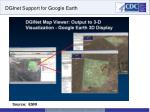 dginet support for google earth