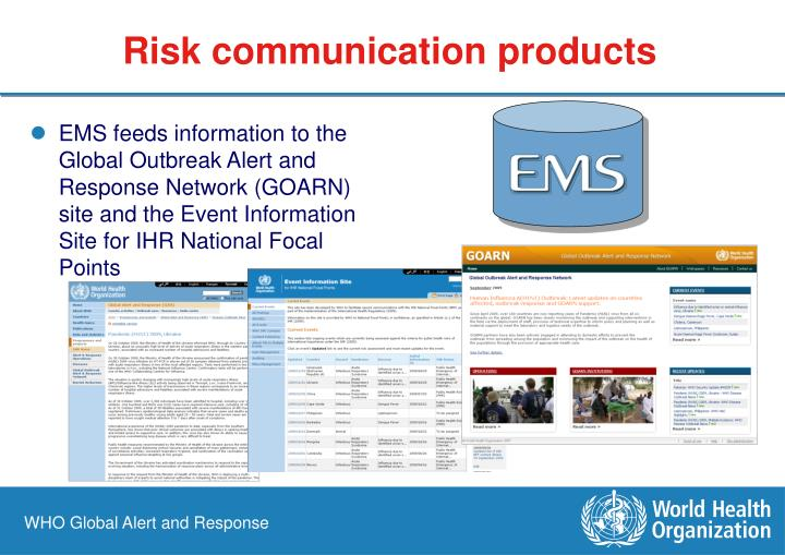 Risk communication products