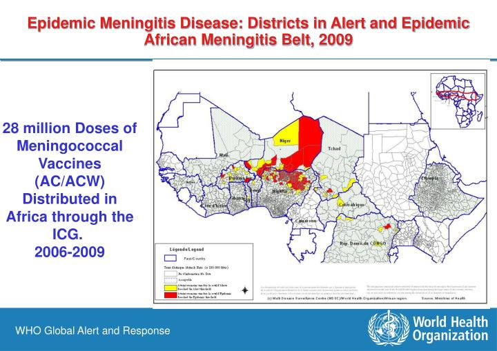 Epidemic Meningitis Disease: Districts in Alert and Epidemic