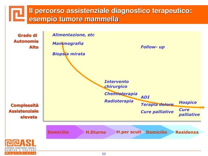 Il percorso assistenziale diagnostico terapeutico: esempio tumore mammella