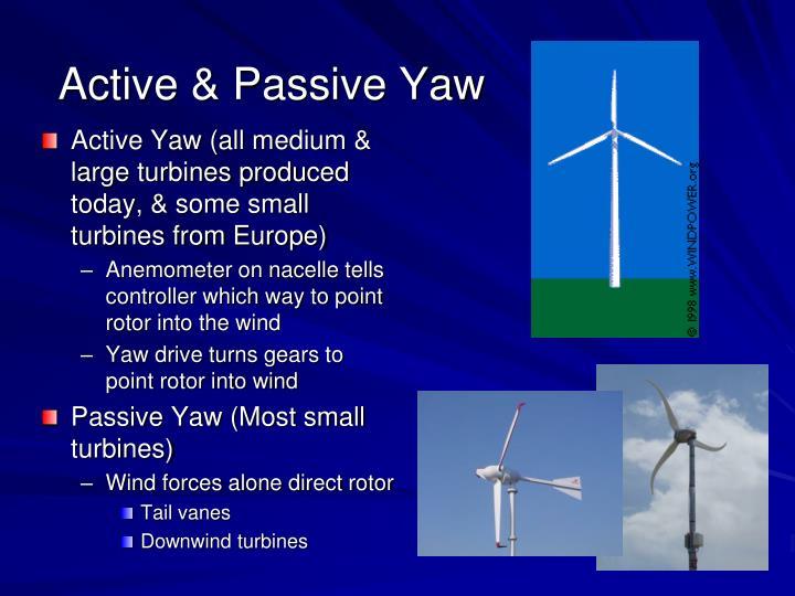 Active & Passive Yaw