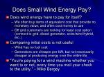 does small wind energy pay