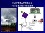hybrid systems rural electrification