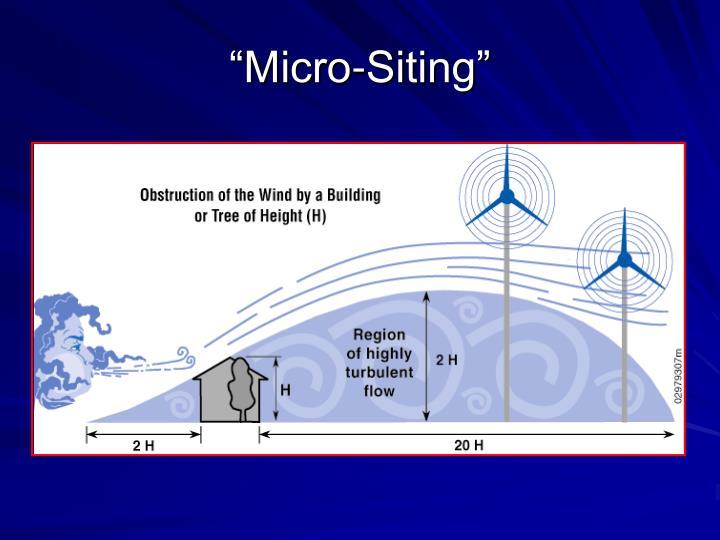 """Micro-Siting"""