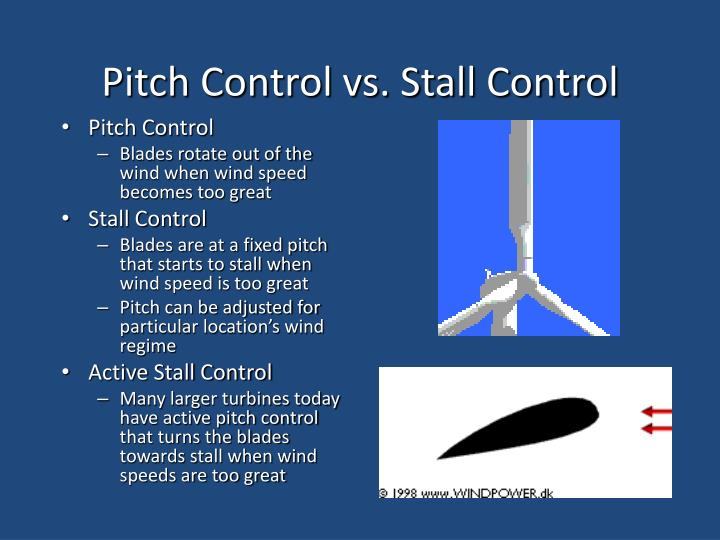 Pitch Control vs. Stall Control