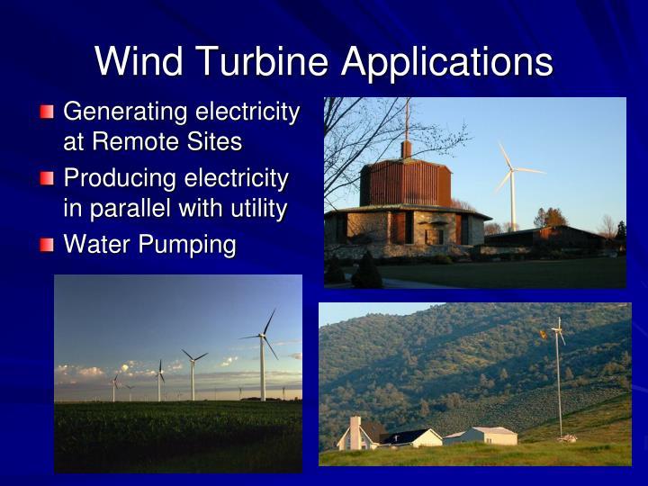 Wind Turbine Applications