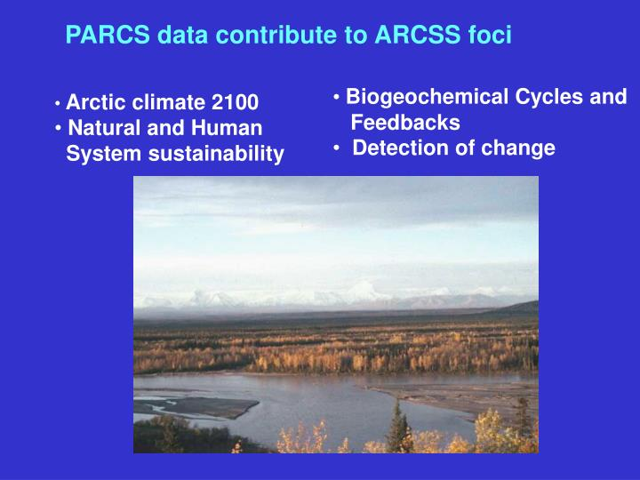 PARCS data contribute to ARCSS foci
