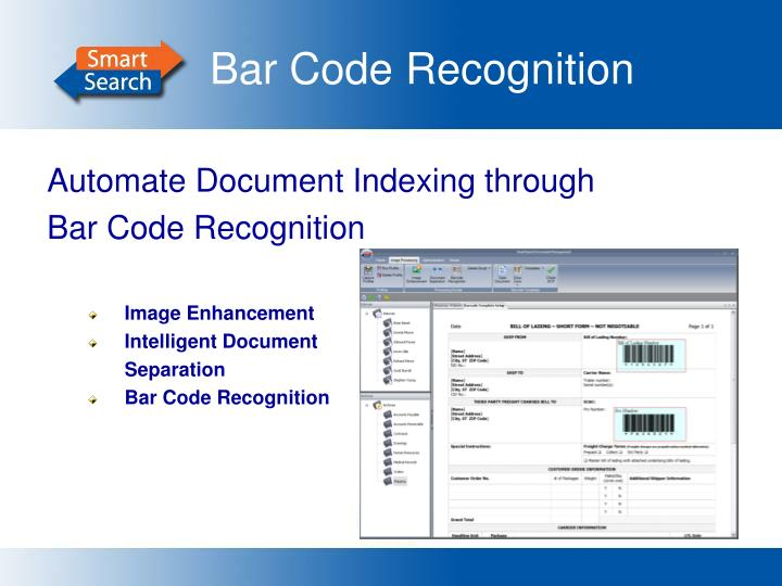 Bar Code Recognition