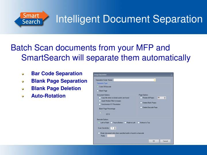 Intelligent Document Separation