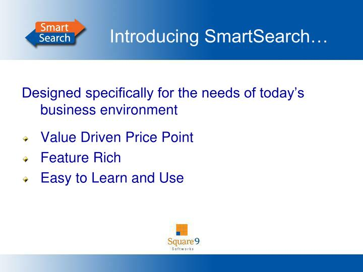 Introducing SmartSearch…