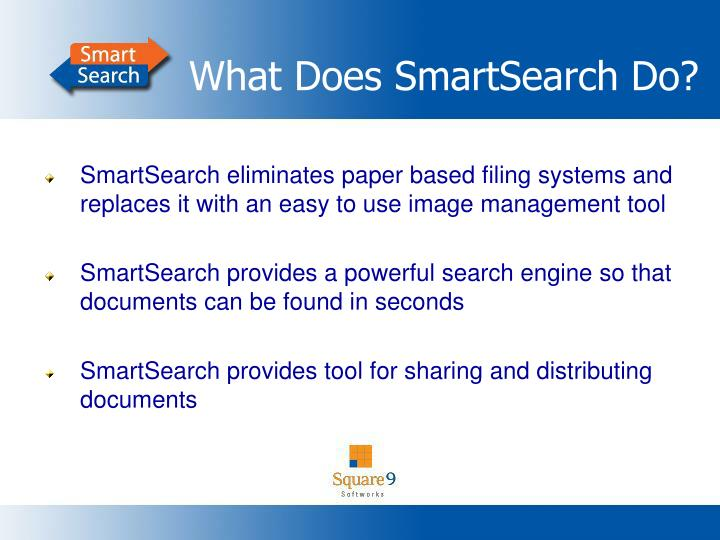 What Does SmartSearch Do?