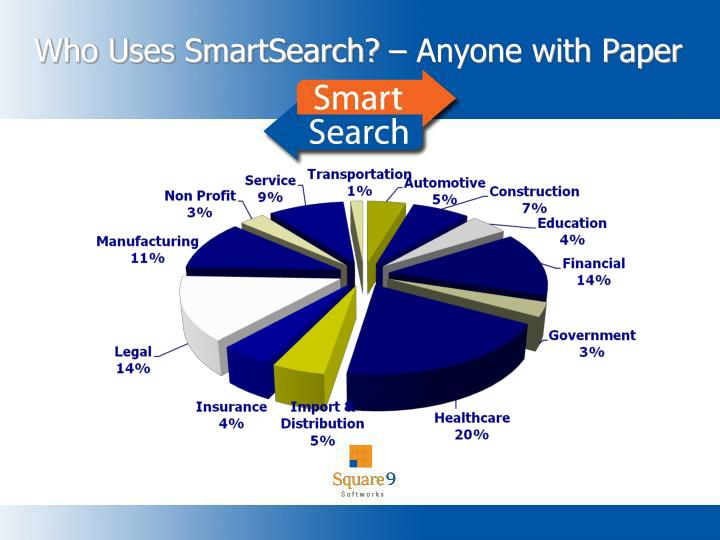 Who Uses SmartSearch? – Anyone with Paper