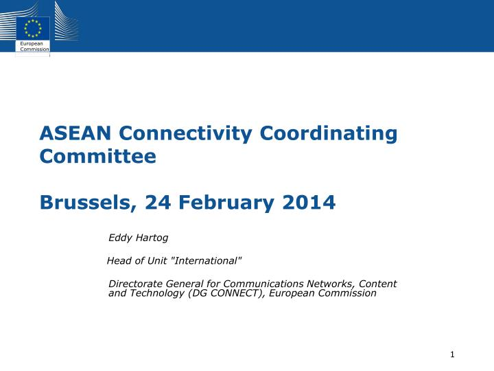 Asean connectivity coordinating committee brussels 24 february 2014