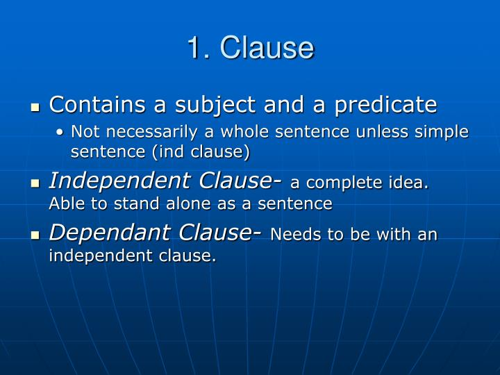 1 clause