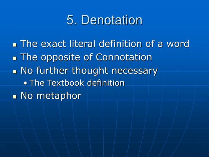 5. Denotation