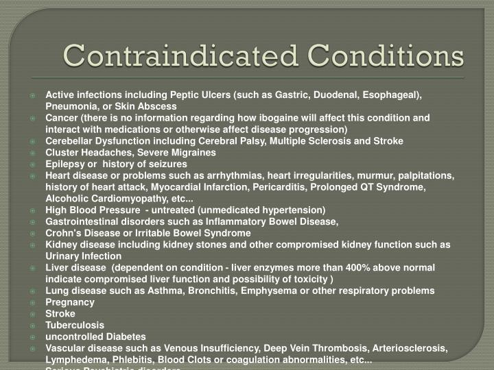 Contraindicated Conditions