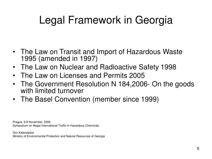 Legal Framework in Georgia