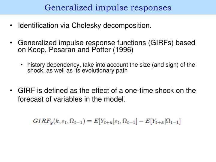 Generalized impulse responses