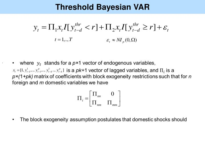 Threshold Bayesian VAR