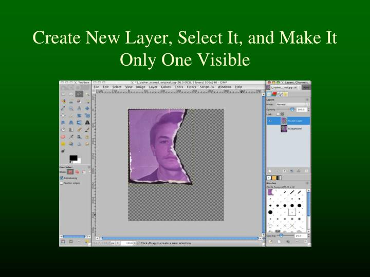 Create New Layer, Select It, and Make It Only One Visible