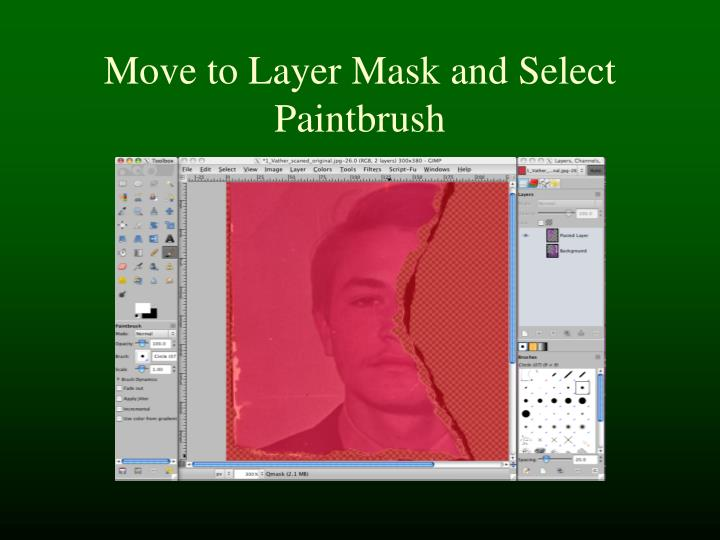 Move to Layer Mask and Select Paintbrush