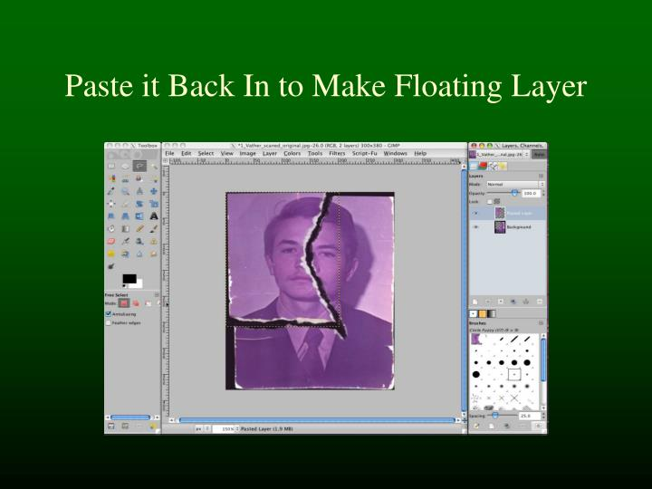 Paste it Back In to Make Floating Layer