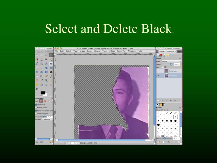 Select and Delete Black