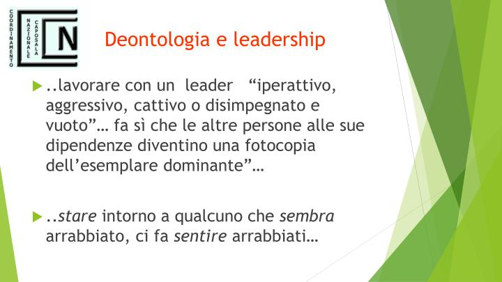 Deontologia e leadership